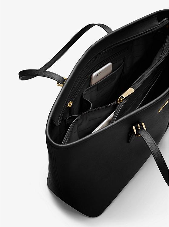 7dd5b8ca8ca1 ... Jet Set Medium Saffiano Leather Top-Zip Tote Bag. MICHAEL Michael Kors