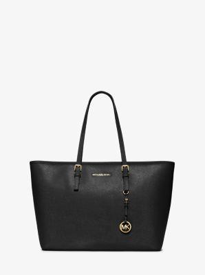 Jet Set Medium Saffiano Leather Top zip Tote Bag | Michael Kors