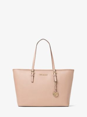 1f5469a963 Jet Set Medium Saffiano Leather Top-zip Tote Bag | Michael Kors