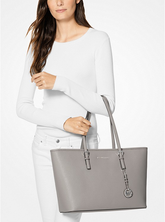 77eb4a5dd01d Jet Set Travel Medium Saffiano Leather Top-zip Tote | Michael Kors
