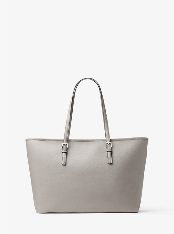 21a6c40d90e3 ... Jet Set Travel Medium Saffiano Leather Top-Zip Tote