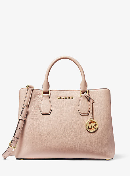 Camille Large Leather Satchel