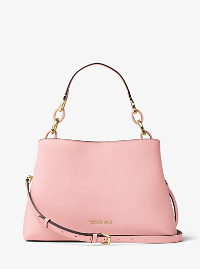 Portia Large Saffiano Leather Shoulder Bag. michael michael kors ...