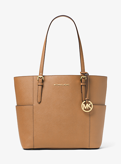Jet Set Large Saffiano Leather Top-Zip Tote