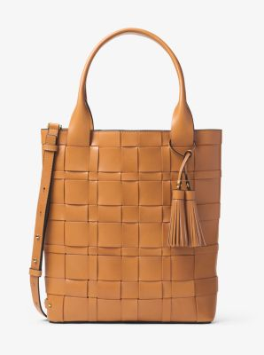 Vivian Large Woven Leather Tote  3939e1908d112