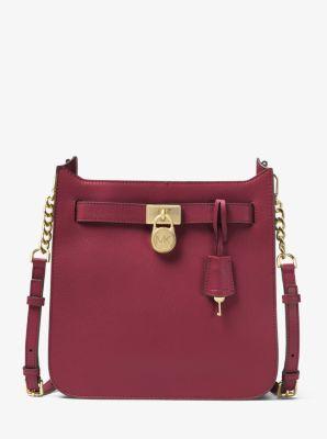 1a5c5f03a0ce2e Hamilton Medium Pebbled Leather Messenger Bag | Michael Kors