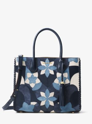 332b20ada011 Mercer Large Floral Patchwork Leather Tote