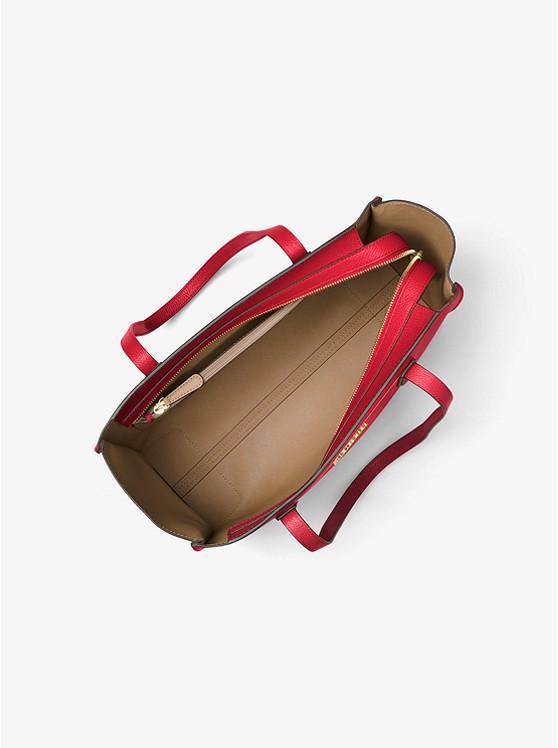 256948ba2ece Mercer Large Top-zip Leather Tote | Michael Kors