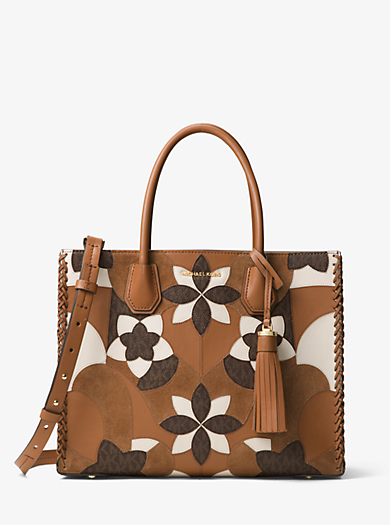 QUICKVIEW. michael michael kors �� Mercer Large Floral Patchwork Leather Tote