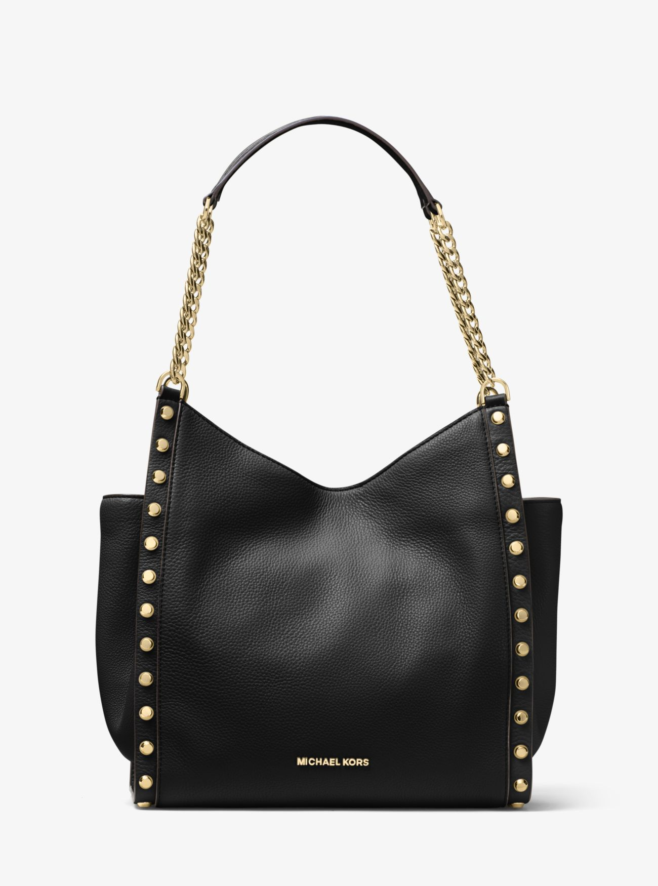 newbury studded leather chain tote michael kors. Black Bedroom Furniture Sets. Home Design Ideas
