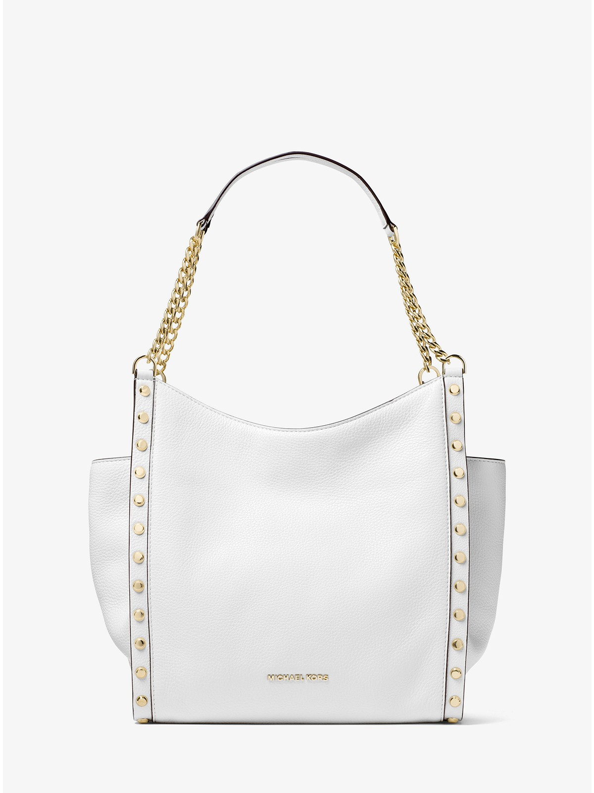 5740ee11bf4a Michael Kors Newbury Studded Leather Chain Tote at £108