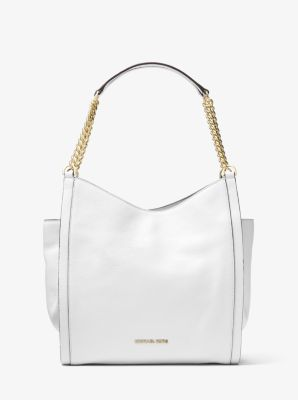 339a7c9230c3 Newbury Pebbled Leather Chain Tote Bag | Michael Kors