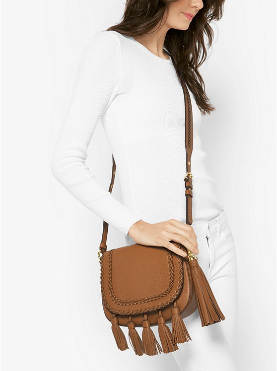 Moroccan Leather Messenger
