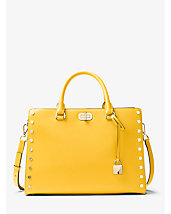 Sylvie Large Studded Leather Satchel