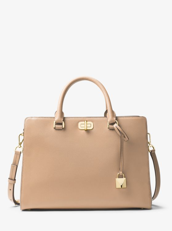 Sylvie Large Leather Satchel | Michael Kors