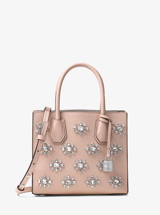 Mercer Crystal-Embellished Leather Crossbody
