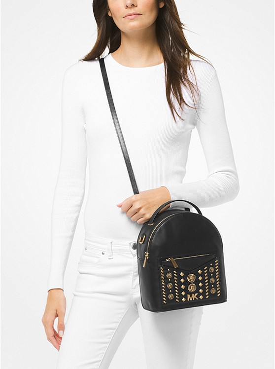 0221810d0631 ... Jessa Small Embellished Leather Convertible Backpack