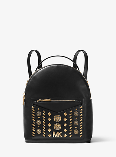 Jessa Small Embellished Leather Convertible Backpack