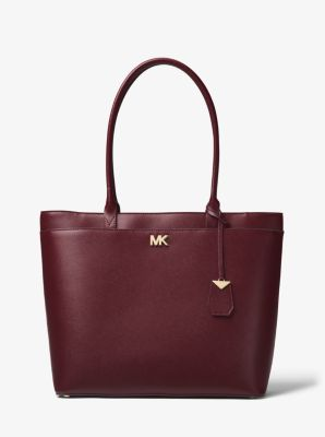 d2f97498fcbc Maddie Large Crossgrain Leather Tote Bag | Michael Kors