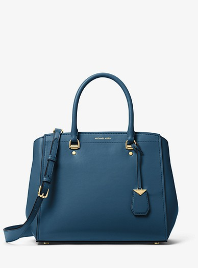 b98dcc45f035 Benning Large Leather Satchel | Michael Kors