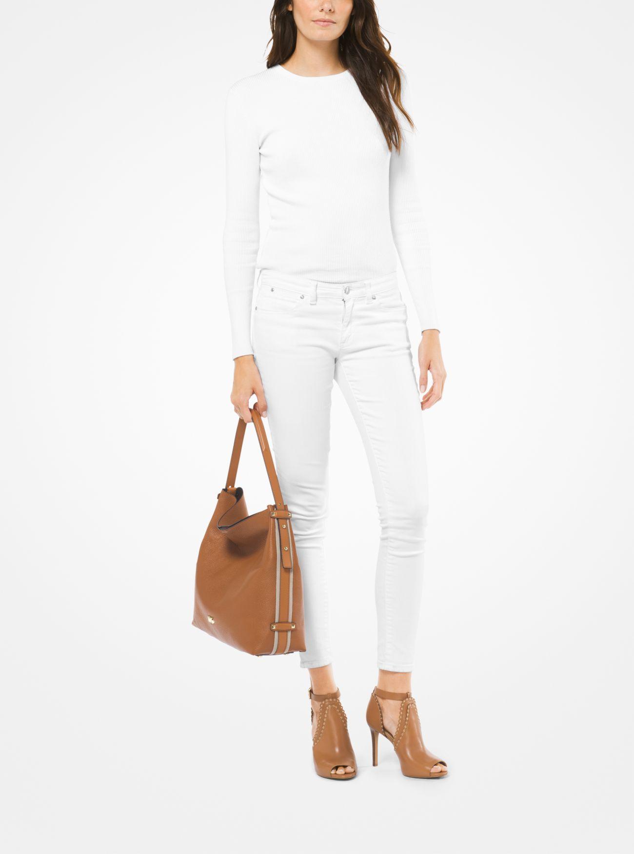 2d90ec06b8f9 ... Griffin Large Leather Shoulder Bag. MICHAEL Michael Kors
