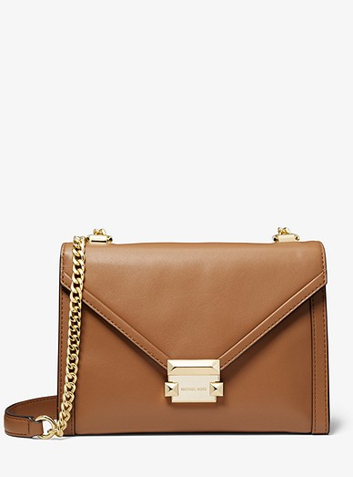 f980f3ec2827 Whitney Large Leather Convertible Shoulder Bag | Michael Kors