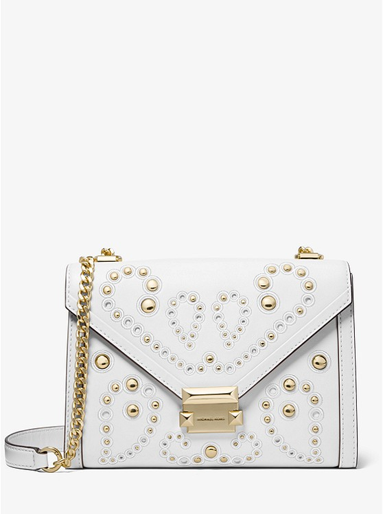 06e45fdb035 Whitney Large Embellished Leather Convertible Shoulder Bag   Michael ...