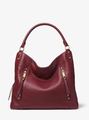 414a457041b8 Evie Large Pebbled Leather Shoulder Bag