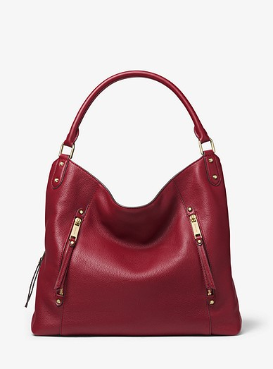464498c1b248 Evie Large Pebbled Leather Shoulder Bag