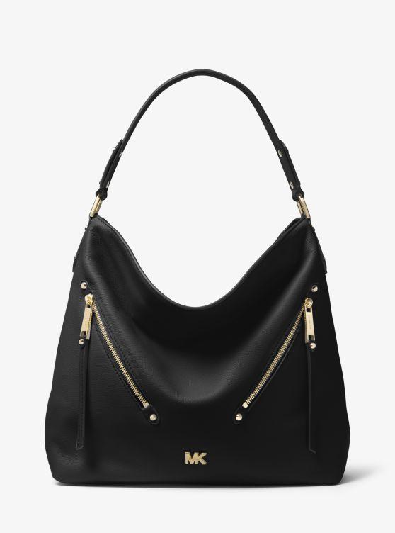 Evie Large Pebbled Leather Shoulder Bag by Michael Michael Kors