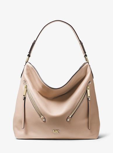 fe9dd27d16ab8f Evie Large Pebbled Leather Shoulder Bag | Michael Kors