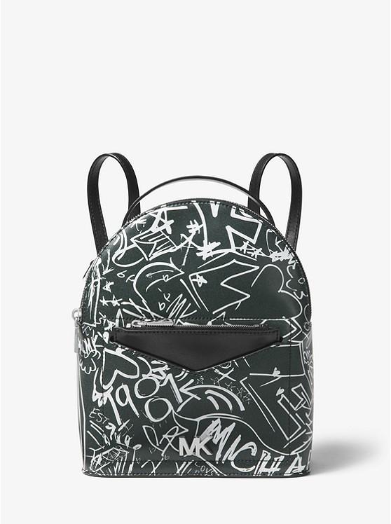 Jessa Small Graffiti Leather Convertible Backpack