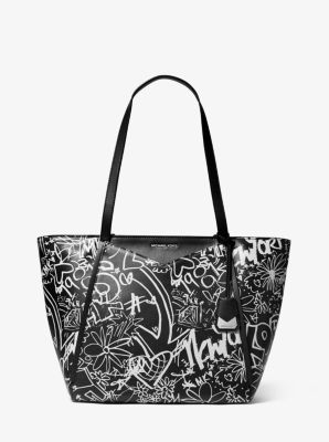 bf04a29a6f21c8 Whitney Large Graffiti Leather Tote | Michael Kors