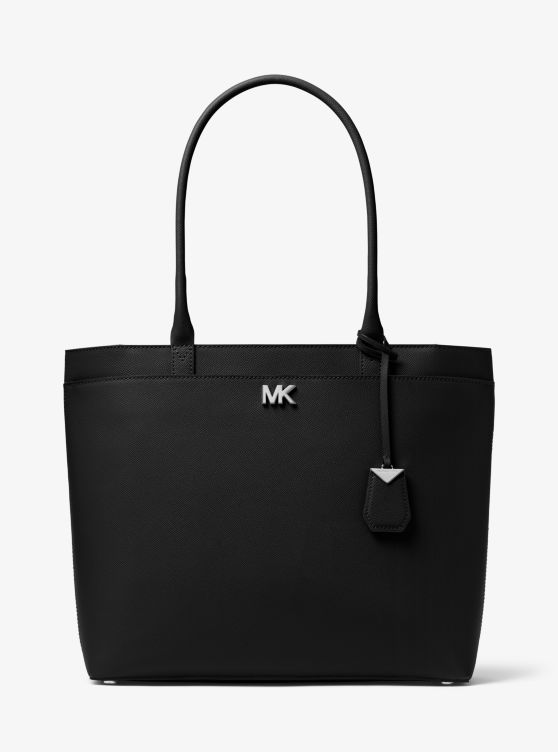 Maddie Large Crossgrain Leather Tote by Michael Michael Kors