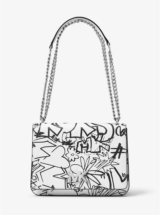 Mott Large Graffiti Leather Shoulder Bag