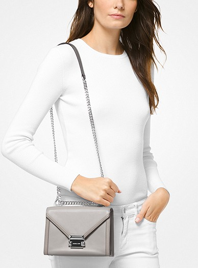 08990536d9d7 Whitney Small Two-Tone Leather Convertible Shoulder Bag. MICHAEL Michael  Kors
