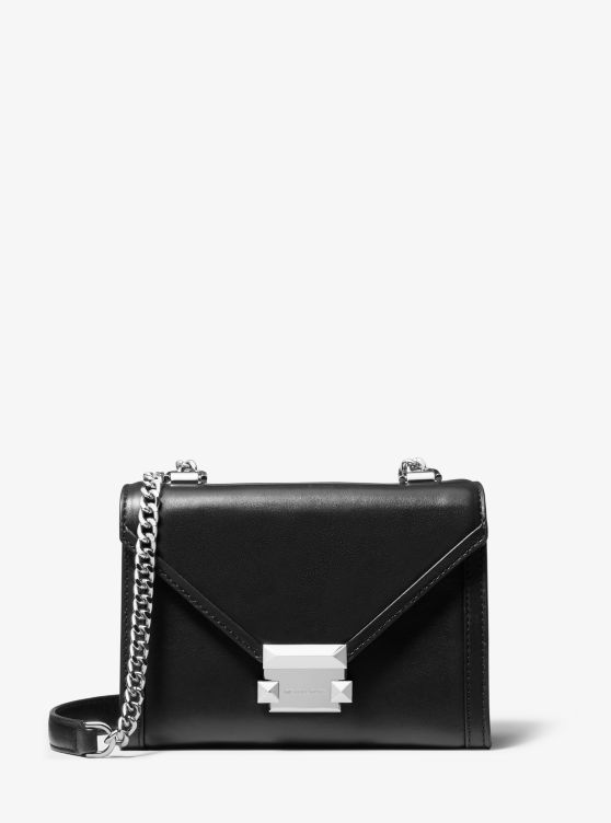 Whitney Small Leather Convertible Shoulder Bag