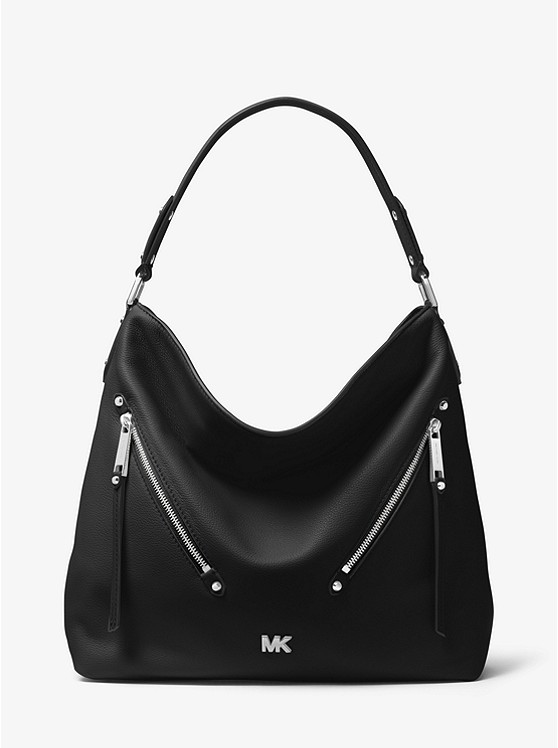 c2faa573295d Evie Large Pebbled Leather Shoulder Bag ...