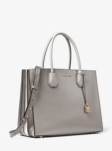 664922174e68 Mercer Large Pebbled Leather Accordion Tote Bag | Michael Kors