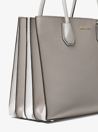 3a1a0e120914 Mercer Large Pebbled Leather Accordion Tote Bag. MICHAEL Michael Kors