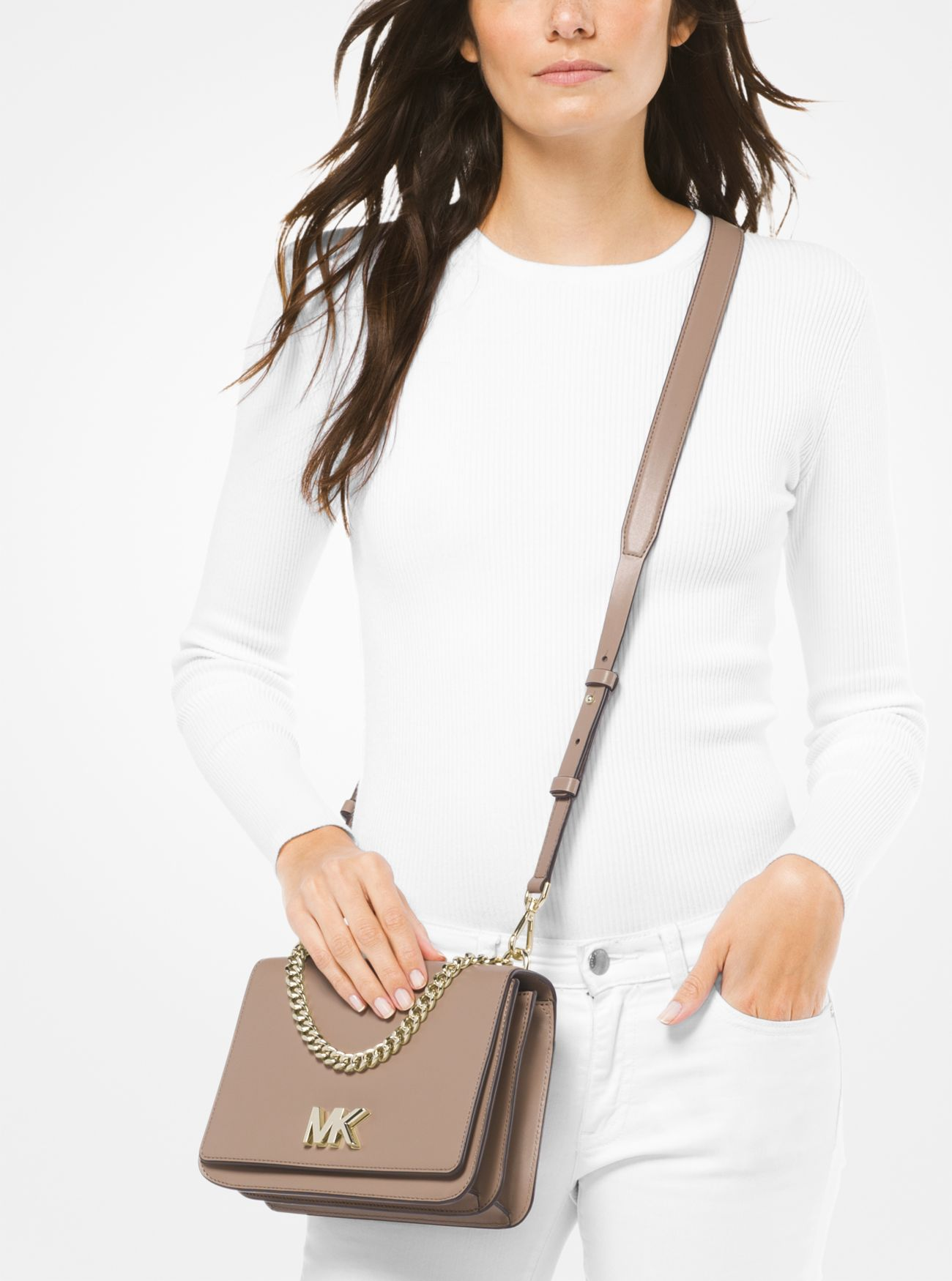 434b6d76e8ed ... Mott Large Leather Crossbody Bag