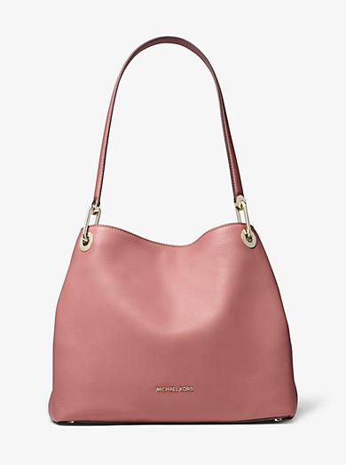 1d720455ec42 Raven Large Pebbled Leather Shoulder Bag