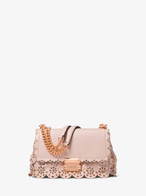 a92d69849abf Sloan Small Floral Scalloped Leather Shoulder Bag - SOFT PINK - 30T8TSLL1I