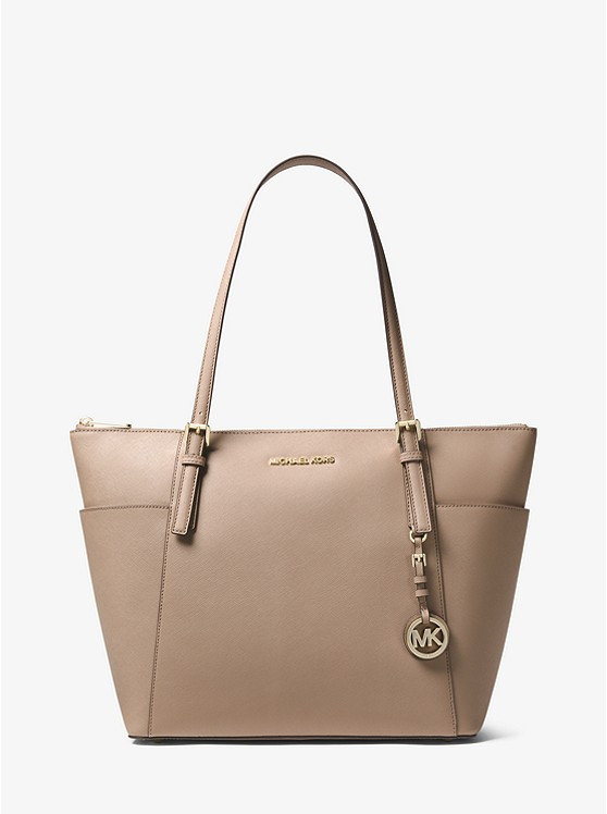 bb63e1cc1f42 Jet Set Large Saffiano Leather Top-zip Tote | Michael Kors