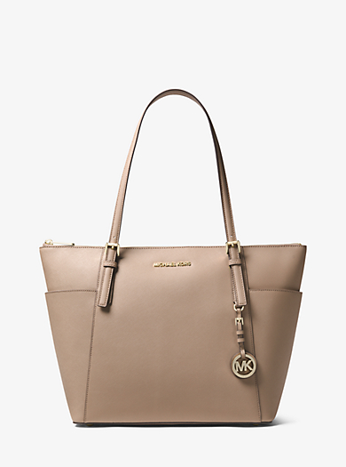 Jet Set Large Saffiano Leather Top Zip Tote Michael Kors