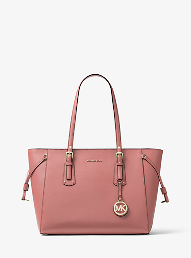 19562972e25b ... pale pink gold netherlands voyager medium crossgrain leather tote michael  michael kors voyager medium daf8b 135b5 ...