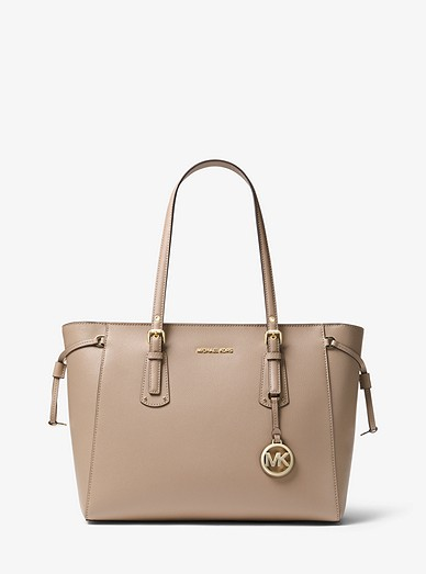 fc1c2278a2a1 Voyager Medium Crossgrain Leather Tote Bag | Michael Kors