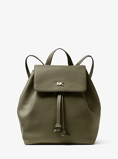 8a16585fa722 Junie Medium Pebbled Leather Backpack | Michael Kors