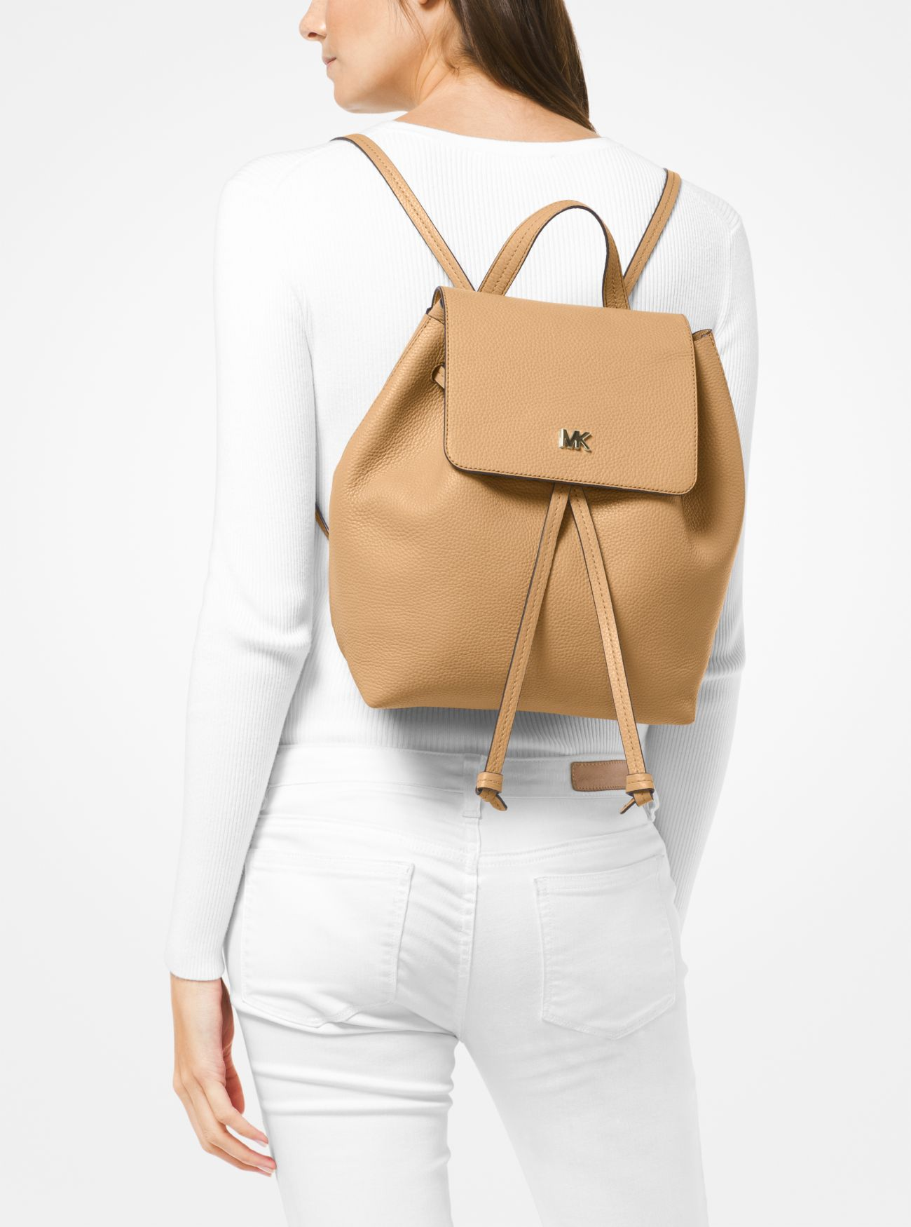 99b30a8fdd2c ... Junie Medium Pebbled Leather Backpack. MICHAEL Michael Kors