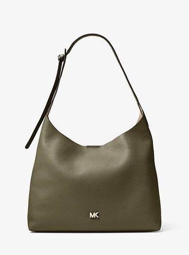 1dda8a555ead Junie Medium Leather Shoulder Bag | Michael Kors